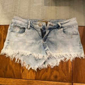 White Washed Jean Shorts